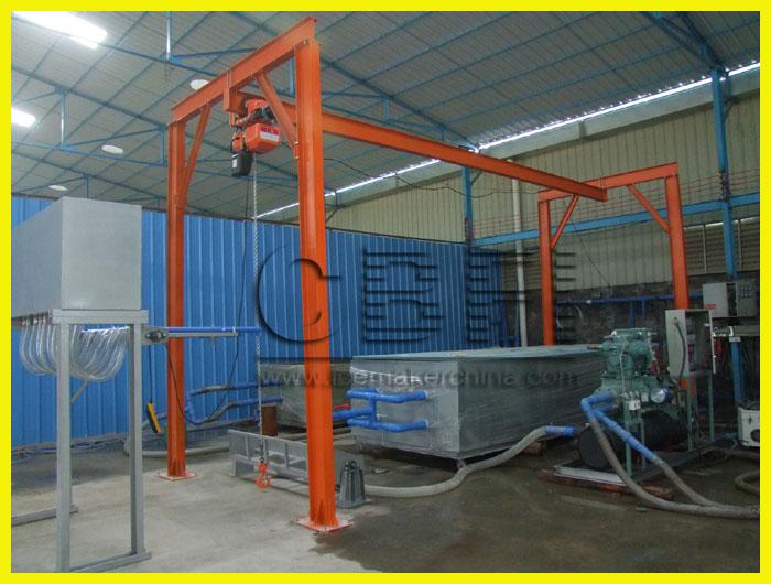 crane for ice block machine 4