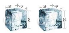 icecubes dimensions